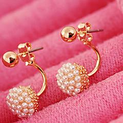 Dames Oorknopjes Bruids Modieus Kostuum juwelen Parel Imitatieparel Legering Bal Sieraden Voor Bruiloft Feest Dagelijks