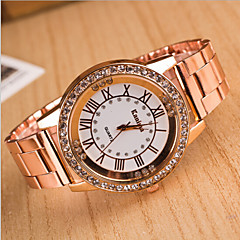 Dames Modieus horloge Kwarts Legering Band Meerkleurig Zilver Gouden Goud Rose