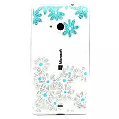 Til Nokia etui Etuier Transparent Præget Bagcover Etui Blomst Blødt TPU for Nokia Nokia Lumia 535 Nokia Lumia 435