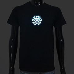 충전식 배터리는 점등 주도 포함 엘 T 셔츠 철 남자 2 조정 사운드 활성화 및 다수의 플래시 모드