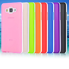 For Samsung Galaxy etui Syrematteret Gennemsigtig Etui Bagcover Etui Helfarve TPU for Samsung A7 A5