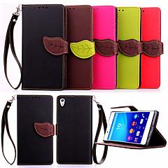 kiváló minőségű pénztárca kártya birtokosa pu bőr Flip tok Sony Xperia Z4 / Z3 / Z3 mini / E3 / E4 (vegyes színek)