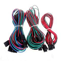 3d yazıcı reprap rampalar 1.4 endstops termistör, motor için 14pcs komple kablolama kabloları
