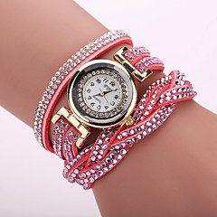 Xu™ Dame Modeur Armbåndsur Quartz Afslappet Ur PU Bånd Blomst Leopard Bohemisk Sort Hvid Blåt Rød Orange Brun Grøn Pink Lilla KakiRød Blå