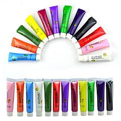 1 conjunto de 12 cores de pintura tubo de acrílico da pintura da arte do prego 3d desenhar mais nova marca nova arte do prego ponta uv gel