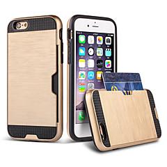 Kompatibilitás iPhone 8 iPhone 8 Plus iPhone 6 iPhone 6 Plus tokok Kártyatartó Ütésálló Hátlap Case Páncél Kemény Hőre lágyuló poliuretán
