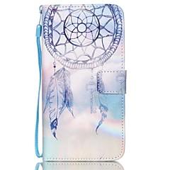 For Samsung Galaxy etui Pung Kortholder Med stativ Flip Præget Etui Heldækkende Etui Drømmefanger Kunstlæder for SamsungS7 edge S7 S6