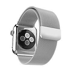 Loop milanês para relógio de maçã 42mm banda de aço inoxidável 38mm com fivela magnética forte