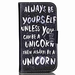 be yourself kuvio PU nahka tapauksessa korttipaikka ja seistä Samsung Galaxy S4 Mini / s3mini / s5mini / S3 / S4 / S5 / S6