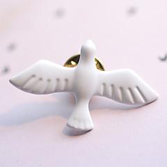 Európai stílus divat vintage fém art friss fehér galamb a béke kitűző (egyszeri)