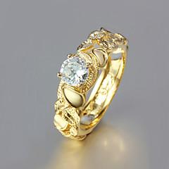 Női Karikagyűrűk jelmez ékszerek Arannyal bevont 18K arany Ékszerek Kompatibilitás Esküvő Parti Napi Hétköznapi