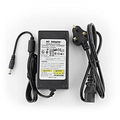 yanse® 12v5a CCTV järjestelmä virtalähteen + AC 100 ~ 240V 50 / 60Hz tulo DC 12V 5000ma ulostulo (EU / AU / UK / US-standardi) johti