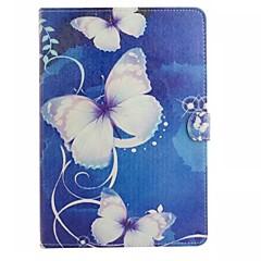 Na Samsung Galaxy Etui Etui na karty / Portfel / Z podpórką / Flip / Wzór Kılıf Futerał Kılıf Motyl Skóra PU SamsungTab 4 10.1 / Tab 4