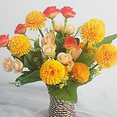 Μετάξι / Πλαστικό Τριαντάφυλλα / Λουλακί Ψεύτικα λουλούδια