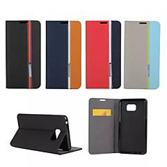 For Samsung Galaxy Note Kortholder Med stativ Flip Etui Heldækkende Etui Linjeret / bølget Kunstlæder for SamsungNote 5 Note 4 Note 3