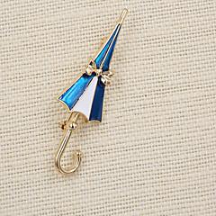 moda feminina bonito esmalte broche de guarda-chuva (pack com o saco do presente)