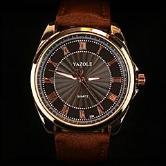 YAZOLE Męskie Zegarek na nadgarstek Kwarcowy Skóra Pasmo Czarny Brązowy Black Brown