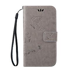 Για Samsung Galaxy Θήκη Πορτοφόλι / Θήκη καρτών / με βάση στήριξης / Ανοιγόμενη tok Πλήρης κάλυψη tok Πεταλούδα Συνθετικό δέρμα Samsung