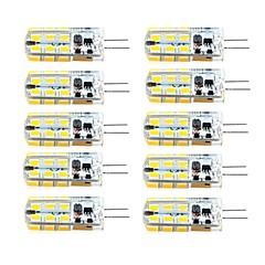 3W G4 Luminárias de LED  Duplo-Pin T 81 SMD 2835 260 lm Branco Quente / Branco Frio Regulável AC 220-240 / DC 12 / AC 12 V 10 pçs