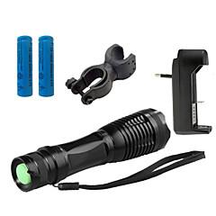 LED zseblámpák LED 4000 Lumen 5 Mód Cree XM-L T6 18650 AAA Állítható fókusz Ütésálló Csúszásgátló markolat Újratölthető Vízálló Strike