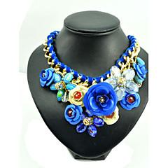 Naisten Riipus-kaulakorut Collar Gemstone Metalliseos Ruusu Sininen Korut Varten Party Päivittäin 1kpl