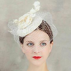 kobiet kwiat koronki welon czoło włosy Fascinator kapelusz biżuteria na wesele