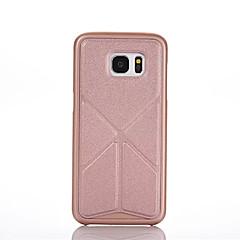 Voor Samsung Galaxy hoesje Origami / Magnetisch hoesje Achterkantje hoesje Effen kleur PC Samsung S6 edge plus / S6 edge / S6