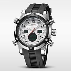 WEIDE Αντρικά Ρολόι Καρπού Χαλαζίας Γιαπωνέζικο Quartz LCD Ημερολόγιο Χρονογράφος Ανθεκτικό στο Νερό Διπλές Ζώνες Ώρας συναγερμού