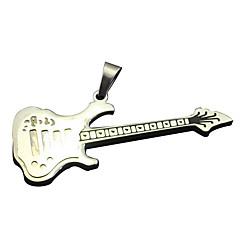 gitár szerelmesei - fekete színű kis titán nyaklánc