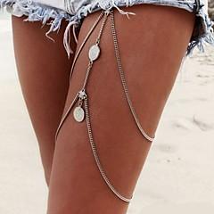 Damskie Biżuteria Łańcuszek na nogę Łańcuch nadwozia / Belly Chain Sexy Europejski Modny Wielowarstwowy Bikini biżuteria kostiumowa Stop