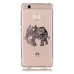 For Huawei etui P9 P9 Lite P8 Lite Mønster Etui Bagcover Etui Elefant Blødt TPU for Huawei Huawei P9 Huawei P9 Lite Huawei P8 Lite