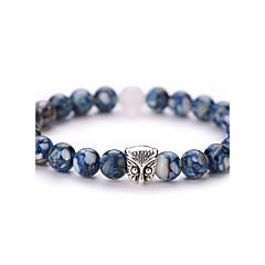 Βραχιόλια Strand Μοντέρνα Πεπαλαιωμένο Λατρευτός Πετράδι Όστρακο Κράμα Geometric Shape Κουκουβάγια Μπλε Κοσμήματα ΓιαΠάρτι Καθημερινά