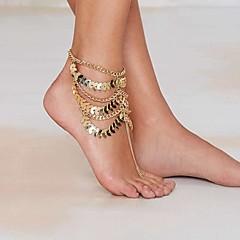 Γυναικεία Βραχιόλι αστραγάλου/Βραχιόλια Επιχρυσωμένο Κράμα Μοναδικό Ευρωπαϊκό Μοντέρνα Κοσμήματα με στυλ Πολυεπίπεδο Πεπαλαιωμένο Sexy