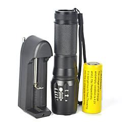 LED zseblámpák LED 5000 Lumen 1 Mód Cree XM-L T6 18650 Állítható fókusz Tompítható Kempingezés/Túrázás/Barlangászat Kerékpározás Utazás