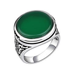 Męskie Damskie Duże pierścionki Modny Postarzane biżuteria kostiumowa Stop Biżuteria Na Codzienny Casual