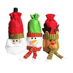 decorações de natal 3pcs natal garrafa de vinho garrafa de vinho garrafa de vinho vinho tinto vinho tinto vinho tinto (estilo aleatório)