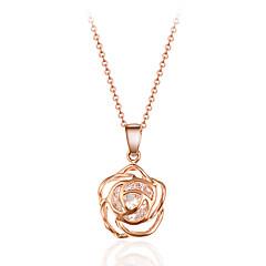 Naisten Riipus-kaulakorut Kristalli Flower Shape Rose Kristalli Metalliseos Bohemia Style Punk-tyyli Inspiraatio Personoitu
