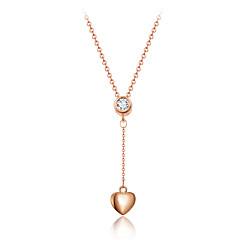 Naisten Riipus-kaulakorut Kristalli Heart Shape Kristalli Timanttijäljitelmä Metalliseos Love Heart ylellisyyttä koruja Tupsut