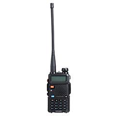 "Baofeng uv5r 1.5 ""LCD 5W 136 ~ 174mhz / 400 ~ 480mhz dual band walkie talkie 1-LED zseblámpa (US Plug)"