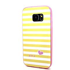 Samsung galaxy s7 s7 reuna keltainen valkoinen raita kuvio takakansi pc tpu kotelo s3 s4 s5 s6 s6 reuna s6 reuna plus