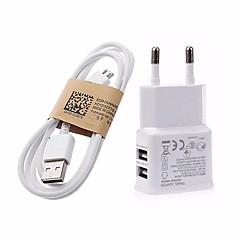 5V 3.1a kettős portok USB eu fali töltő adapter 1m v8 Micro USB kábel a samsung lg sony Huawei Xiaomi google pixel és mások
