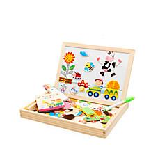 Magnetspielsachen Bildungsspielsachen Holzpuzzle Spielzeuge Vogel Schwein Rosen Sonne Bus Tiere Neuheit Stücke