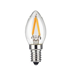 2w e12 led filamentpærer 2 cob 1600 lm varm hvid ac 110-130 v 1 stk