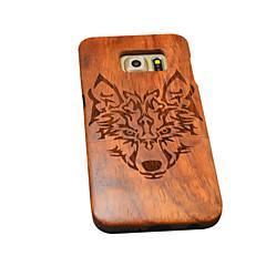 természetes fából samsung esetben Timberwolves erdő farkas totem kemény hátlap Galaxy s6 él + / s6 él / s6