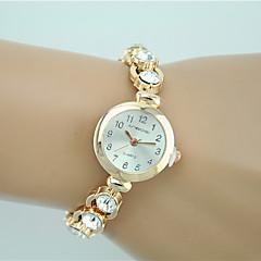 Bayanların Moda Saat Bilezik Saat Quartz Yapay Elmas imitasyon Pırlanta Alaşım Bant İhtişam Günlük Zarif Altın Rengi Altın