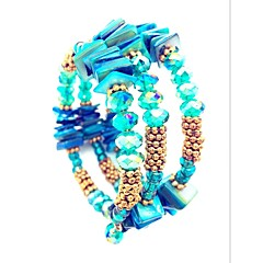 Γυναικεία Wrap Βραχιόλια Κρυστάλλινο Διπλή στρώση Μοντέρνα Βοημία Style Cruce Εμπνευστικό Δίχρωμο Κρύσταλλο Cowry Όστρακο Κράμα Κοσμήματα