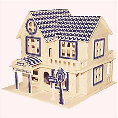 Legpuzzels Houten puzzels Bouw blokken DHZ-speelgoed Beroemd gebouw Chinese architectuur Huis 1 Hout KristalModelbouw &