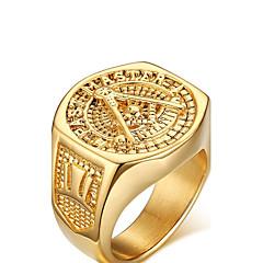 Męskie Damskie Duże pierścionki Miłość Osobiste biżuteria kostiumowa Pozłacane Biżuteria Biżuteria Na Ślub Impreza Urodziny Codzienny
