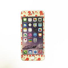 Apple iPhone 6 / 6s 4,7 hüvelykes edzett üveg puha él teljes képernyős lefedettség elülső képernyő védő rajzfilm virágmintás