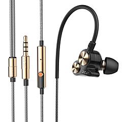 dzat DT-05 διπλή δυναμική 3,5 χιλιοστών στο αυτί ακουστικά-ψείρες σπορ θορύβου ακουστικά dj hifi μπάσο ακουστικά με μικρόφωνο
